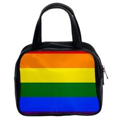 Pride rainbow flag Classic Handbags (2 Sides)