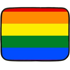 Pride rainbow flag Fleece Blanket (Mini)