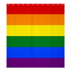Pride rainbow flag Shower Curtain 66  x 72  (Large)