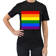 Pride rainbow flag Women s T-Shirt (Black)