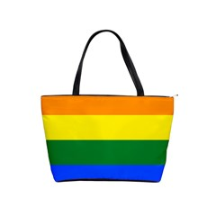 Pride rainbow flag Shoulder Handbags