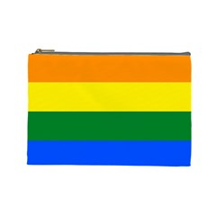 Pride rainbow flag Cosmetic Bag (Large)