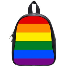 Pride rainbow flag School Bags (Small)