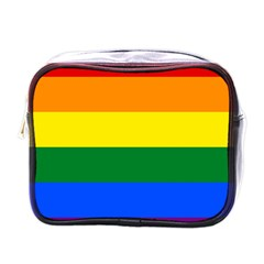 Pride rainbow flag Mini Toiletries Bags