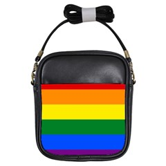 Pride rainbow flag Girls Sling Bags