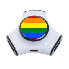 Pride rainbow flag 3-Port USB Hub