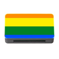 Pride rainbow flag Memory Card Reader with CF