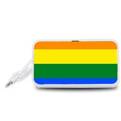 Pride rainbow flag Portable Speaker (White)