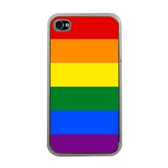 Pride rainbow flag Apple iPhone 4 Case (Clear)