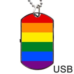 Pride rainbow flag Dog Tag USB Flash (Two Sides)