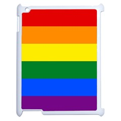 Pride rainbow flag Apple iPad 2 Case (White)
