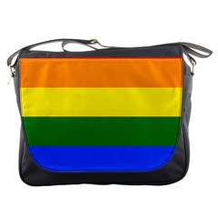 Pride rainbow flag Messenger Bags