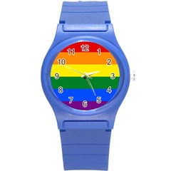 Pride rainbow flag Round Plastic Sport Watch (S)