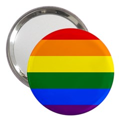 Pride rainbow flag 3  Handbag Mirrors