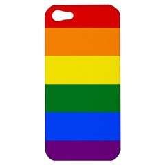 Pride rainbow flag Apple iPhone 5 Hardshell Case