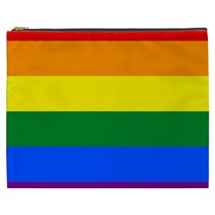 Pride rainbow flag Cosmetic Bag (XXXL)