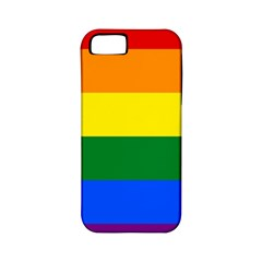 Pride rainbow flag Apple iPhone 5 Classic Hardshell Case (PC+Silicone)