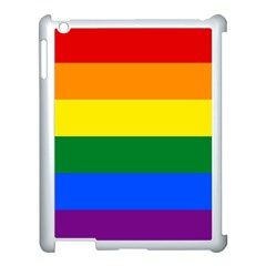 Pride rainbow flag Apple iPad 3/4 Case (White)