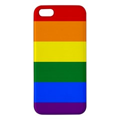 Pride rainbow flag Apple iPhone 5 Premium Hardshell Case