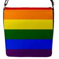 Pride rainbow flag Flap Messenger Bag (S)