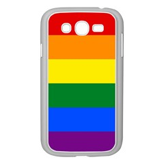 Pride rainbow flag Samsung Galaxy Grand DUOS I9082 Case (White)
