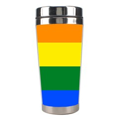 Pride rainbow flag Stainless Steel Travel Tumblers