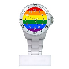 Pride rainbow flag Plastic Nurses Watch
