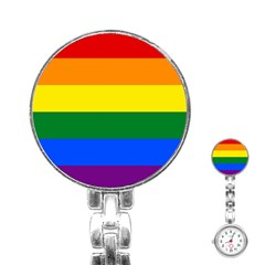 Pride rainbow flag Stainless Steel Nurses Watch