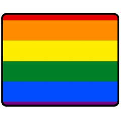 Pride rainbow flag Double Sided Fleece Blanket (Medium)