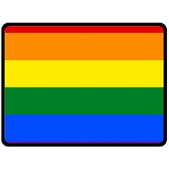 Pride rainbow flag Double Sided Fleece Blanket (Large)