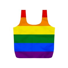 Pride rainbow flag Full Print Recycle Bags (S)