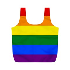 Pride rainbow flag Full Print Recycle Bags (M)