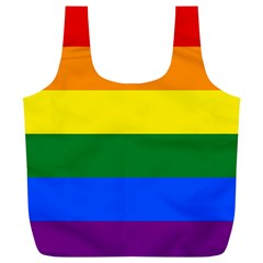 Pride rainbow flag Full Print Recycle Bags (L)