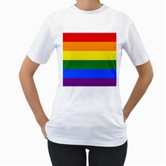Pride rainbow flag Women s T-Shirt (White)