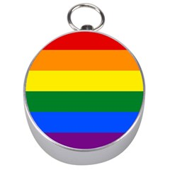 Pride rainbow flag Silver Compasses