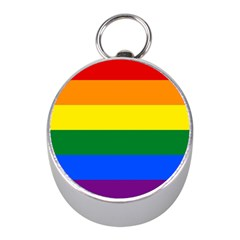 Pride rainbow flag Mini Silver Compasses