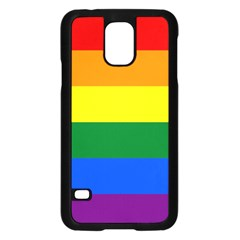 Pride rainbow flag Samsung Galaxy S5 Case (Black)