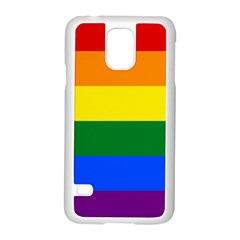 Pride rainbow flag Samsung Galaxy S5 Case (White)