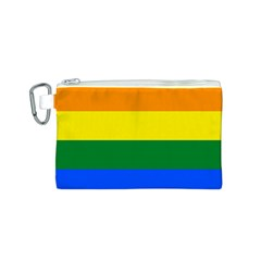 Pride rainbow flag Canvas Cosmetic Bag (S)
