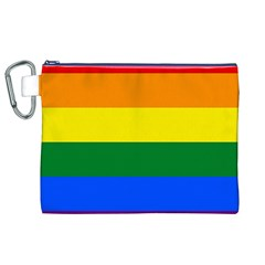 Pride rainbow flag Canvas Cosmetic Bag (XL)