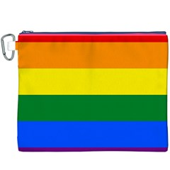 Pride rainbow flag Canvas Cosmetic Bag (XXXL)