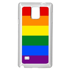 Pride rainbow flag Samsung Galaxy Note 4 Case (White)