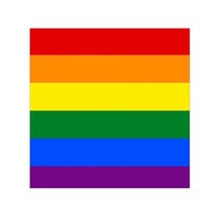Pride rainbow flag Small Satin Scarf (Square)