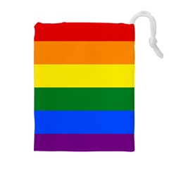 Pride rainbow flag Drawstring Pouches (Extra Large)