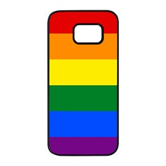 Pride rainbow flag Samsung Galaxy S7 edge Black Seamless Case