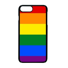 Pride rainbow flag Apple iPhone 7 Plus Seamless Case (Black)