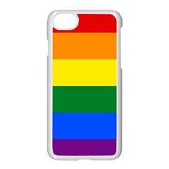 Pride rainbow flag Apple iPhone 7 Seamless Case (White)