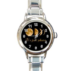 Moon phases  Round Italian Charm Watch