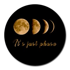 Moon phases  Round Mousepads