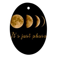 Moon phases  Ornament (Oval)